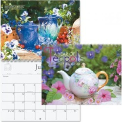 2017 A Year of Teapots Calendar found on Bargain Bro India from currentcatalog.com for $7.49