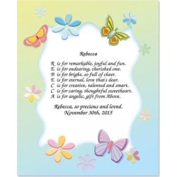 Butterfly Name Poem Print found on Bargain Bro from currentcatalog.com for USD $7.59