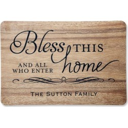 Bless This Home Personalized Doormat