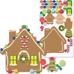 Decorate-Your-Own-Gingerbread House Stickers found on Bargain Bro Philippines from currentcatalog.com for $3.99