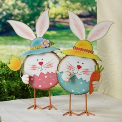 Easter Bunny Metal Decorations