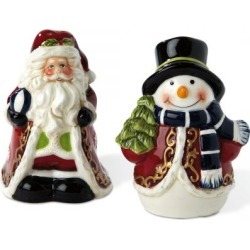 Santa and Snowman Salt & Pepper Set