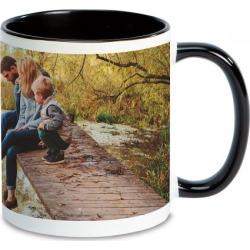 Panoramic Ceramic Photo Mug - Black Handle
