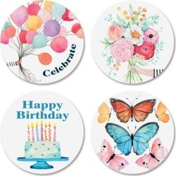 Happy Birthday Seals (4 Designs) found on Bargain Bro India from currentcatalog.com for $2.29