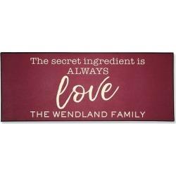 Love Double-Width Personalized Doormat