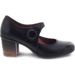 Dansko Women's Heels  Page Black Waterproof Burnished 38 (7.5-8 W US)
