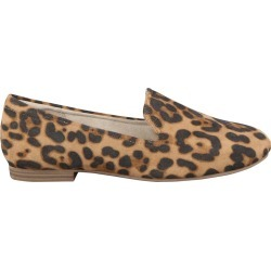 Natural Soul Women's Alexis Loafer Shoes in Cheetah Print, Size 6 Wide