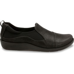 Clarks Women's Sillian Paz Slip-On - Wide Width Shoes in Black, Size 8 found on Bargain Bro India from ts.townshoes.ca for $69.27
