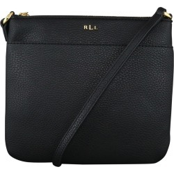 Ralph Lauren Women's Andover Zip Crossbody Bag in Black Leather found on Bargain Bro India from ts.townshoes.ca for $54.99