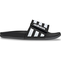 Adidas Men's Adilette Comfort Slide Sandals in Core Black/Cloud White/Grey, Size 9 Medium found on Bargain Bro from ts.townshoes.ca for USD $30.12