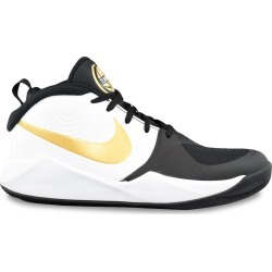 Nike Youth Boy's Team Hustle D9 Basketball Sneaker Shoes in Black/White/Gold, Size 7 Medium found on Bargain Bro Philippines from ts.townshoes.ca for $55.32