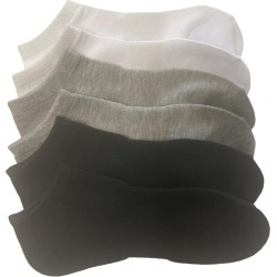 Mix No.6 Women's No Show Socks - 6 Pack in Grey/Black/White, Size O/S