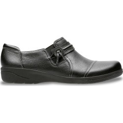Clarks Women's Cheyn Madi Slip-On Shoes in Black Leather, Size 6 Wide found on Bargain Bro Philippines from ts.townshoes.ca for $76.16