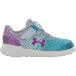Under Armour Toddler Girl's Inf Surge Runner Shoes in Blue/Purple Fabric, Size 8 Medium found on Bargain Bro Philippines from ts.townshoes.ca for $41.57