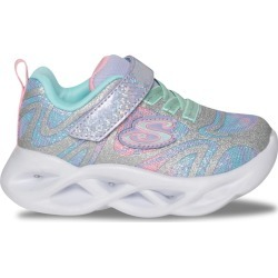Skechers Toddler Girls' S Lights Twisty Brights Dazzle Flash Sneaker Shoes in Silver, Size 7 Medium found on Bargain Bro Philippines from ts.townshoes.ca for $43.67