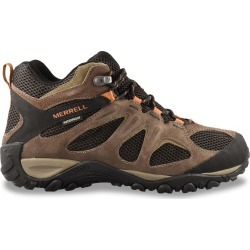 Merrell Men's Yokota 2 Mid Waterproof Hiker - Wide Width Shoes in Bracken, Size 8.5 found on Bargain Bro from ts.townshoes.ca for USD $89.57