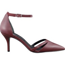 Charles David Women's Astrid Pump Shoes in Burgundy Leather, Size 8 Medium
