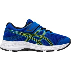 Asics Youth Boy's Contend 6 PS Runner Shoes in Tuna Blue/Black, Size 11 Medium found on MODAPINS from ts.townshoes.ca for USD $54.95