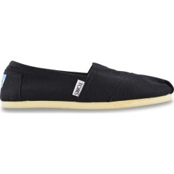 Toms Women's Classic Slip-On Shoes in Black, Size 9 Medium
