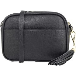 Kate & Alex Women's Camera Crossbody in Black
