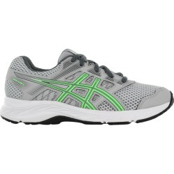Asics Youth Boy's Gel Contend 5 Gs Sneaker Shoes in Grey/Green, Size 4 Medium