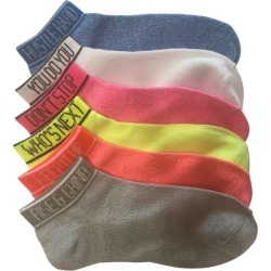 Mix No.6 Women's Verbiage No Show Socks - 6 Pack, Size O/S