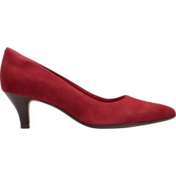 Clarks Women's Linvale Jerica Pump Shoes in Red, Size 8.5 Medium