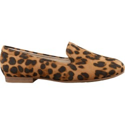 Natural Soul Women's Alexis Loafer Shoes in Cheetah Print, Size 8 Medium