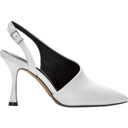 Vince Camuto Women's Mahalda Slingback Pump Shoes in White, Size 9 Medium