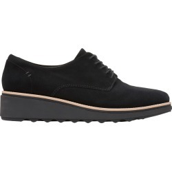 Clarks Women's Sharon Noel Oxford Shoes in Black Suede, Size 10 Wide found on Bargain Bro Philippines from ts.townshoes.ca for $76.16