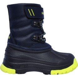 Skechers Toddler's Snow Slopes Winter Boot in Navy Blue/Lime, Size 9 Medium found on Bargain Bro Philippines from ts.townshoes.ca for $49.50