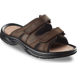 Big & Tall Propet Vero Two-Strap Slides - Brown - Size 150 W found on Bargain Bro Philippines from Destination XL for $67.00