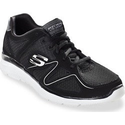 Big & Tall Skechers Verse Sneakers - Black White - Size 160 W