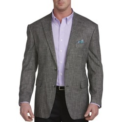 Big & Tall Oak Hill Jacket Relaxer Textured Sport Coat - Black - Size 2X