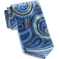 Big & Tall Geoffrey Beene The Paisley Season Tie - Navy