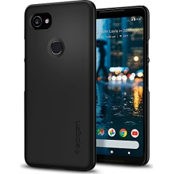 Google Pixel 2 XL Case Spigen [Thin Fit] [Black] Pixel 2 XL Phone Case Cover / Premium Matte Finish Coating for Pixel 2 XL (2017) - Black - F17CS22285