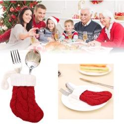 Christmas Socks Tableware Holder Pocket