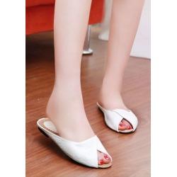 Summer Solid Flat Sandals