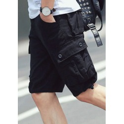 Solid Pocket Zipper Casual Shorts found on MODAPINS from fairyseason.com for USD $25.19