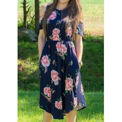 Floral Pocket Cold Shoulder Dress found on MODAPINS from fairyseason.com for USD $15.59