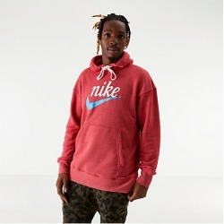 Nike Men's Sportswear Heritage Graphic Hoodie in Red Size Large Cotton/Polyester