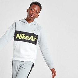 Nike Boys' Air Pullover Hoodie in Grey Size Large Cotton
