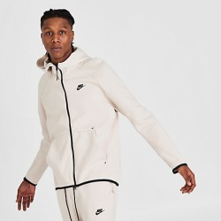 Nike Men's Sportswear Tech Fleece Full-Zip Hoodie in White Size Large Cotton/Polyester/Fleece