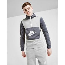 Nike Boys' Hybrid Half-Zip Hoodie in Grey Size Large