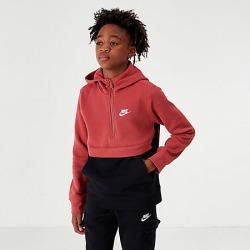 Nike Boys' Club Half-Zip Hoodie in Black Size X-Large