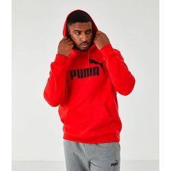 Puma Men's Essentials Big Logo Hoodie in Red Size Large Cotton/Polyester/Fleece