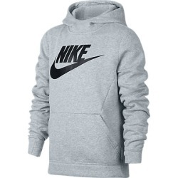 Nike Kids' Sportswear Club Fleece Hoodie in Black Size Large Cotton/Polyester/Fleece