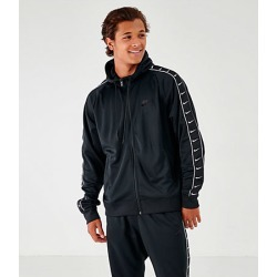 Nike Men's Taped Full-Zip Hoodie in Black Size Large