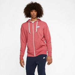 Nike Men's Sportswear Heritage Full-Zip Hoodie in Red Size Medium Cotton/Polyester