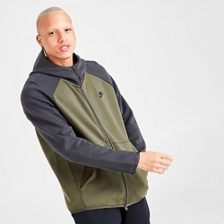 Nike Men's Sportswear Tech Fleece Full-Zip Hoodie in Green Size Large Cotton/Polyester/Fleece